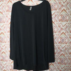 Lularoe Lynnae Plus Size 3XL Black Long Sleeve Tee